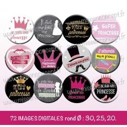 Images : Je suis une princesse - Planches : Rondes & Ovales, Rondes et Ovales