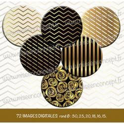 Images : Motifs dorés - Planches : Rondes & Ovales, Rondes et Ovales