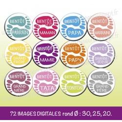 Images : bientôt bébé - Planches : Rondes & Ovales, Rondes et Ovales