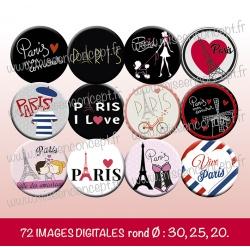 Images : Paris - Planches : Rondes & Ovales, Rondes et Ovales