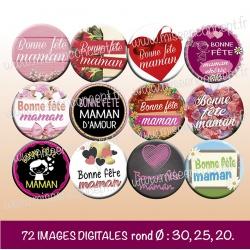 Images : maman - fête des mères - Planches : Rondes & Ovales, Rondes et Ovales