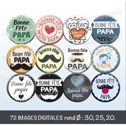 Images : papa - fête des pères - Planches : Rondes & Ovales, Rondes et Ovales