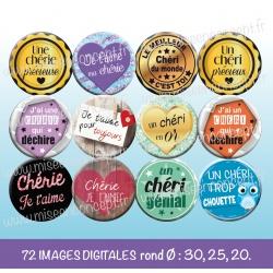 Images : Chéri, chérie - Planches : Rondes & Ovales, Rondes et Ovales