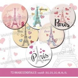 Images : I love Paris - Planches : Rondes & Ovales, Rondes et Ovales