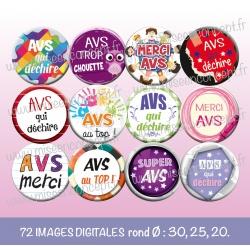 Images : métiers : AVS - Planches : Rondes & Ovales, Rondes et Ovales