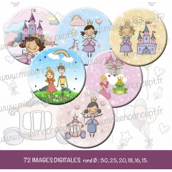 Images : Princesses - Planches : Rondes & Ovales, Rondes et Ovales