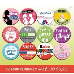 Images : bébé en chargement  - Planches : Rondes & Ovales, Rondes et Ovales