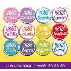 Images : 100 % caractère, chieuse, chiante, chipie, garce - Planches : Rondes & Ovales, Rondes et Ovales
