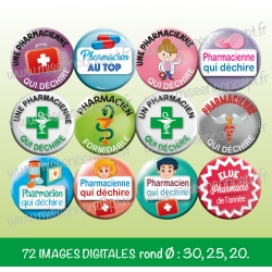 Images : métier : pharmacienne, pharmacien - Planches : Rondes & Ovales, Rondes et Ovales