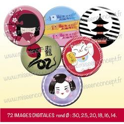 Images : Japon - Planches : Rondes & Ovales, Rondes et Ovales