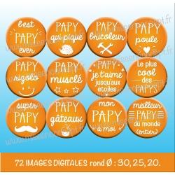 Images : papy, grand-père - Planches : Rondes & Ovales, Rondes et Ovales