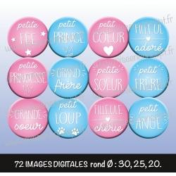 Images : petit mots doux  - Planches : Rondes & Ovales, Rondes et Ovales