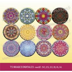 Images : mandala - Planches : Rondes et Ovales