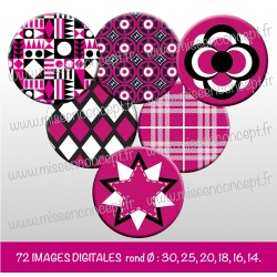 Images : Motifs en formes - Planches : Rondes & Ovales, Rondes et Ovales
