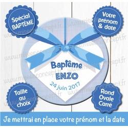 Image personnalisée : baptême - Choix du format - Rond, carré ou ovale