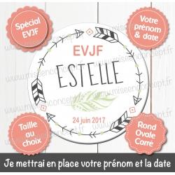 Image personnalisée : EVJF - Choix du format - Rond, carré ou ovale