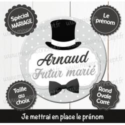 Image personnalisée : futur marié - Choix du format - Rond, carré ou ovale