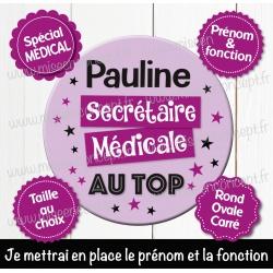 Image personnalisée : secrétaire médicale - Choix du format - Rond, carré ou ovale