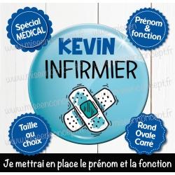 Image personnalisée : infirmier - Choix du format - Rond, carré ou ovale