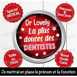 Image personnalisée : dentiste - Choix du format - Rond, carré ou ovale