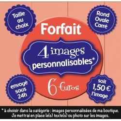 Image personnalisée : mariage - Choix du format - Rond, carré ou ovale