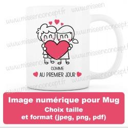 image numérique : Saint Valentin, personnalisable