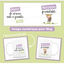 image numérique : nounou, personnalisable