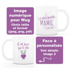 image numérique : Mamie, fête des grands-mères, personnalisable