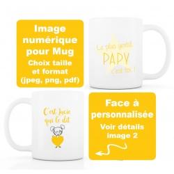 image numérique : Papy, fête des grands-pères, personnalisable