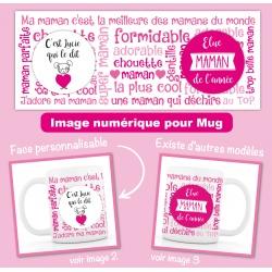 image numérique : maman, fête des mères, personnalisable