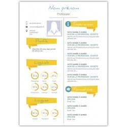 Curriculum vitae maquette avec vos informations modèle 5