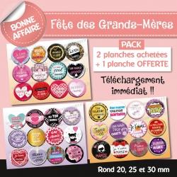 Images : Mamie - Fête des grands-mères - Planches : Rondes