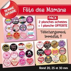 Images : Maman - Fête des mères - Planches : Rondes