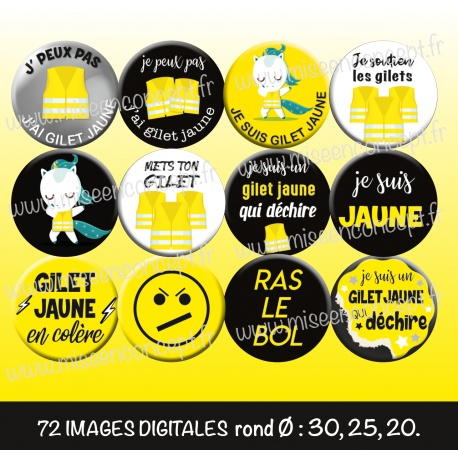 Images : gilet jaune - Planches : Rondes & Ovales, Rondes et Ovales