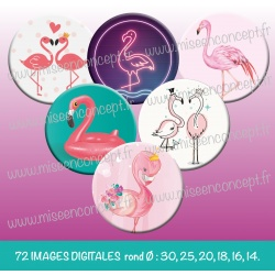 Images : flament rose - Planches : Rondes & Ovales, Rondes et Ovales