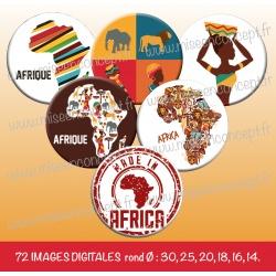 Images : Afrique - Planches : Rondes & Ovales, Rondes et Ovales