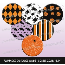 Images : Motifs tons Halloween : Rondes & Ovales, Rondes et Ovales
