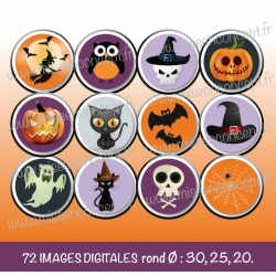 Images : Halloween - Planches : Rondes & Ovales, Rondes et Ovales