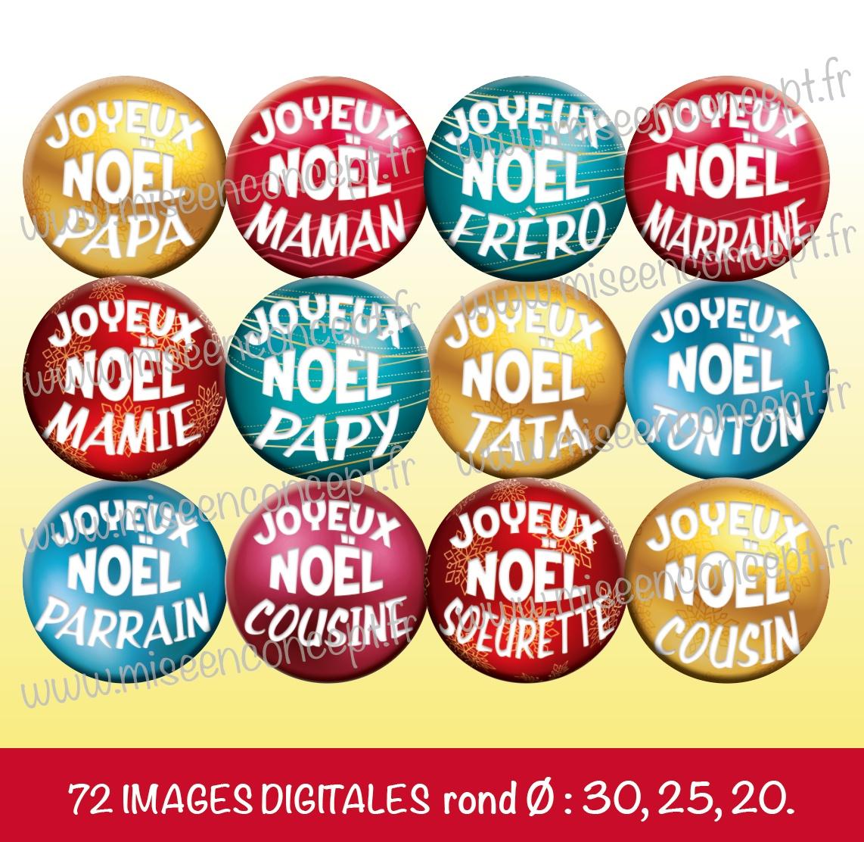 Images Joyeux Noel La Famille Planches Rondes Ovales