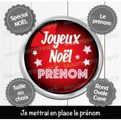 Image personnalisée : noël - Choix du format - Rond, carré ou ovale