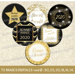 Images : bonne année 2020 - Planches : Rondes & Ovales, Rondes et Ovales