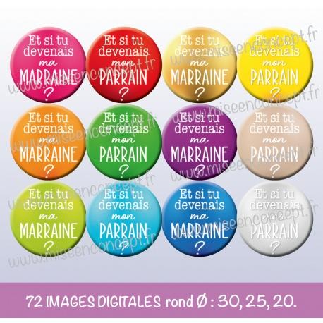 Images : Demande marraine & Parrain - Planche : Ronde