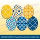 Images : Motifs tons bleu et jaune - Planches : Rondes & Ovales, Rondes et Ovales